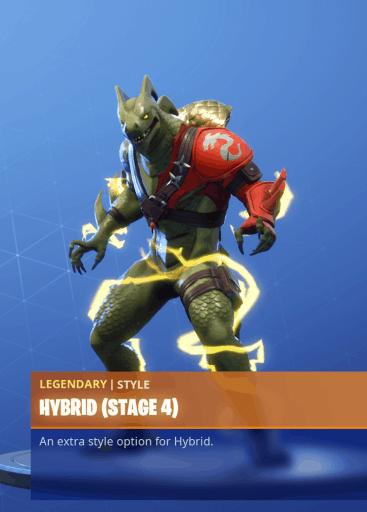 Fortnite Hybrid skin stage 4 season 8 battle pass