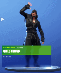 Tier 14 Hello Friend emote