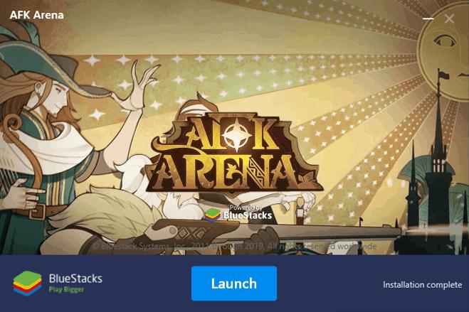 AFK Arena Bluestacks installation finished