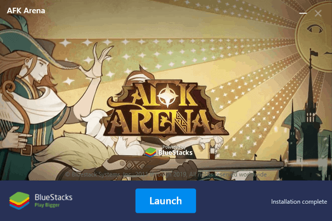 AFK Arena Bluestacks installation finished