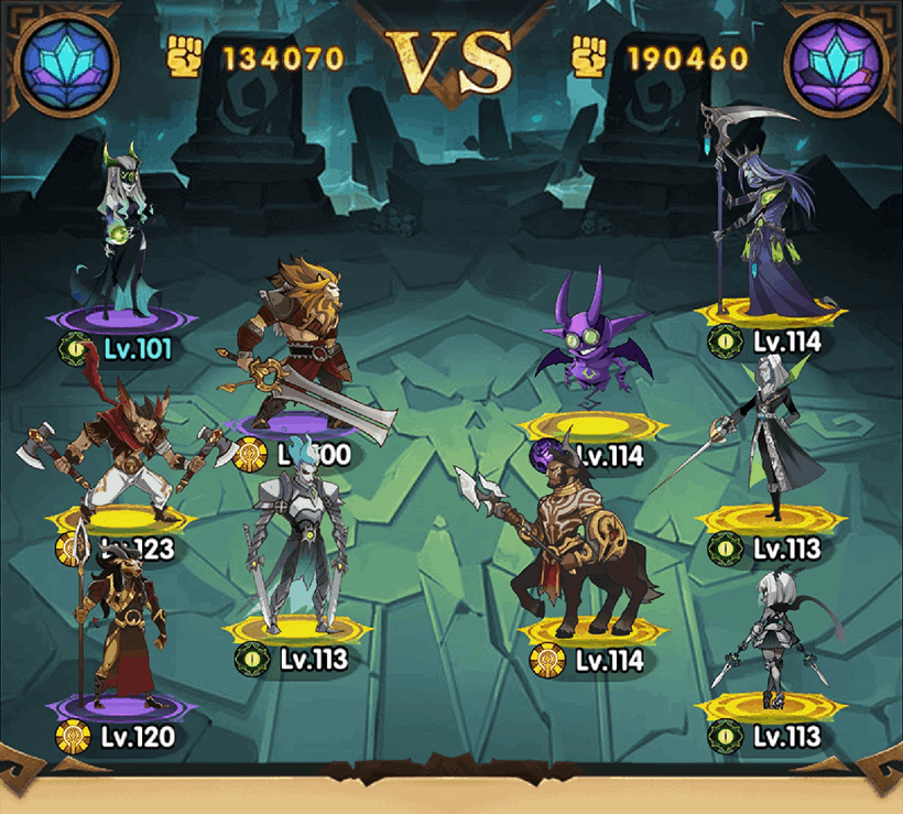 Team composition in AFK Arena