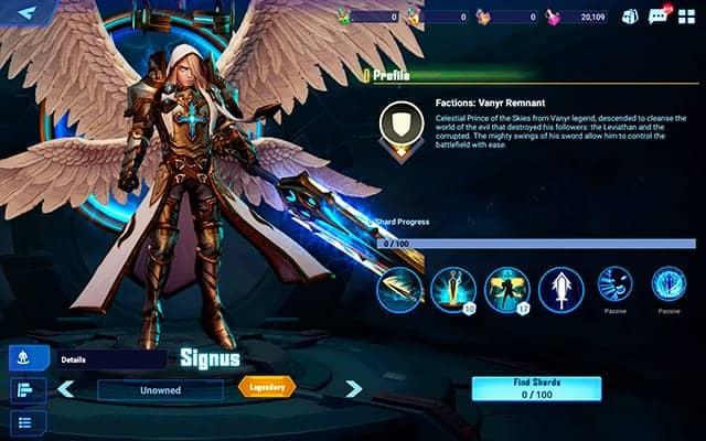 Crystalborne Heroes of Fate Signus Hero