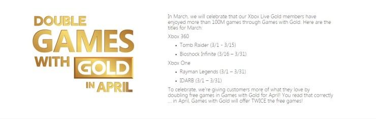 Xbox Live Marzo