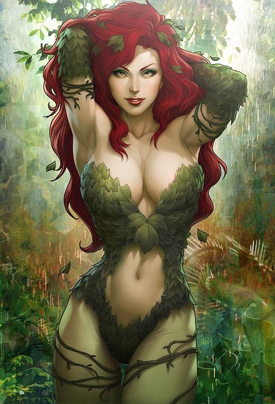 Ilustración de Poison Ivy por Artgerm.