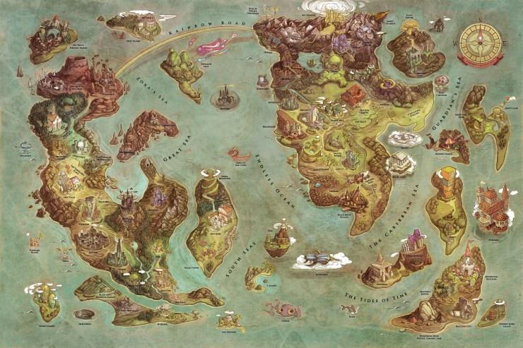 100-lugares-de-distintos-videojuegos-en-un-solo-mapa-videogames-world-map-edison-yan-ilustracion-afiche-1