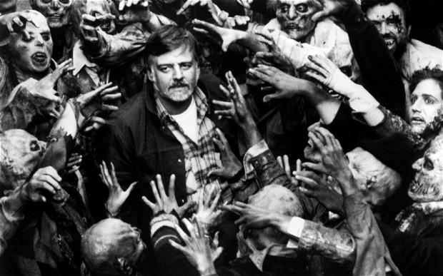 George A. Romero durante la filmación de Day of the Dead. Imagen: The Telegraph