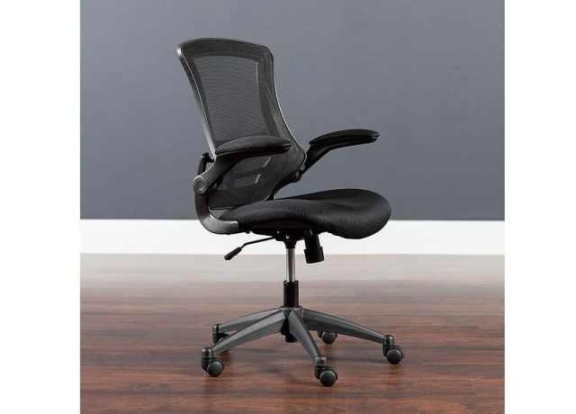 Flash Furniture Mid-Back Black Swivel Chair