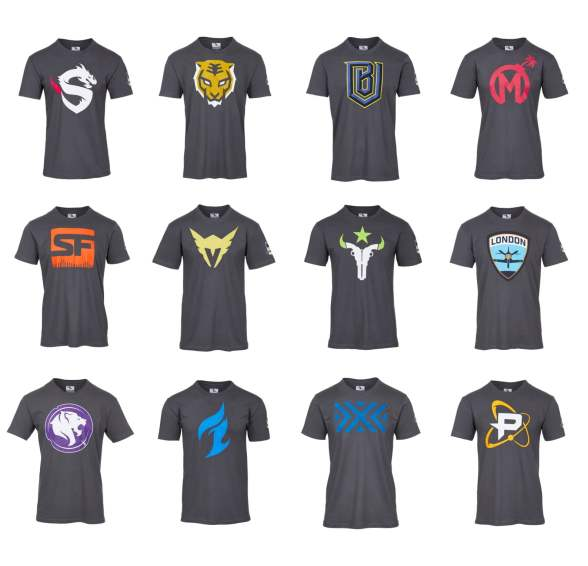 Overwatch League Inagural Season Team Shirts
