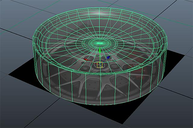 FD3S_SpiritR_F_Wheel_モデリング開始
