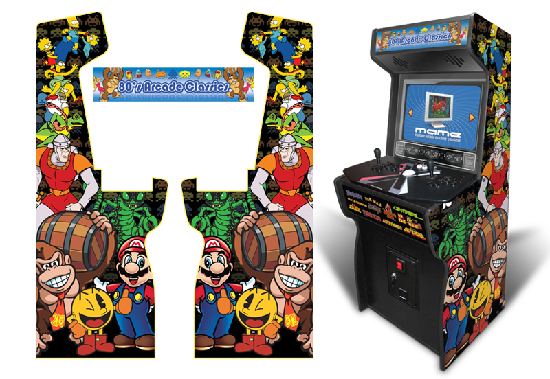 Xtension Arcade Cabinet Game Room Graphics