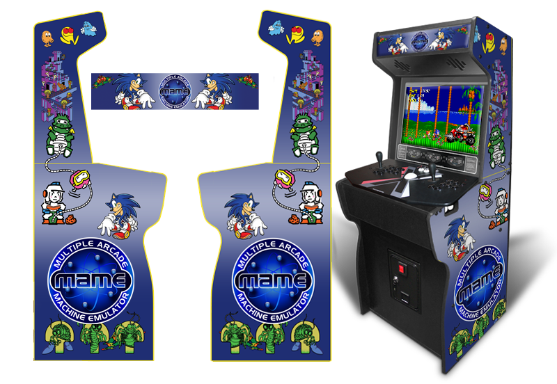 Customer Submitted Custom Permanent Full Size Mame Multiple Arcade Inspired Graphics For Xtension