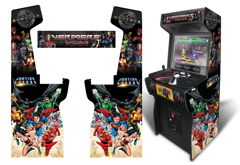 Movie & Comic Inspired Arcade Graphics Game Room Graphics