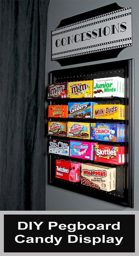 Pegboard Candy Dispenser