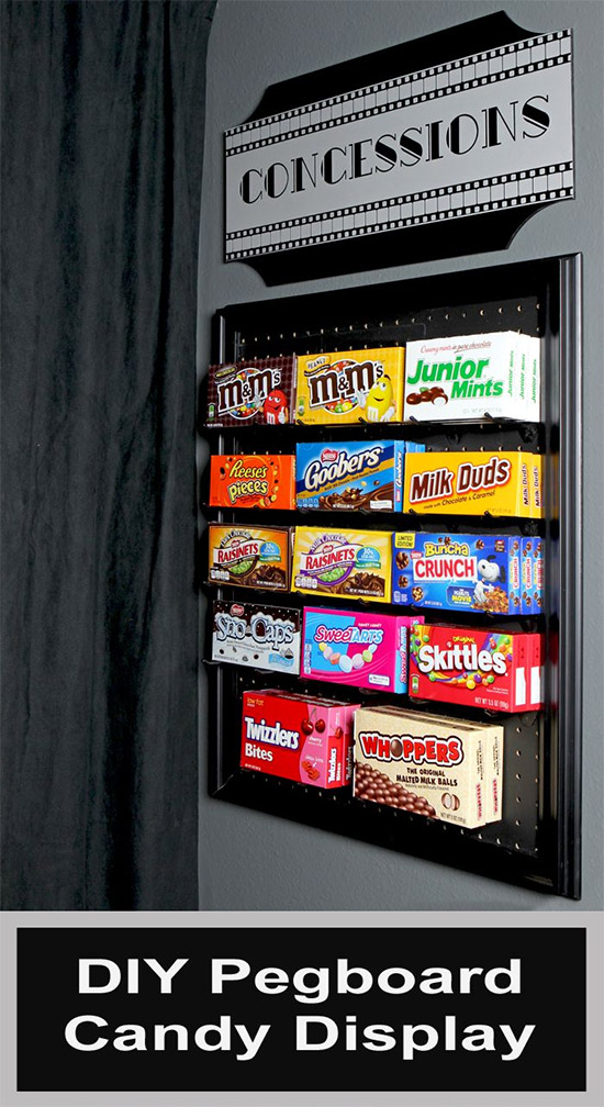 Pegboard Candy Dispenser