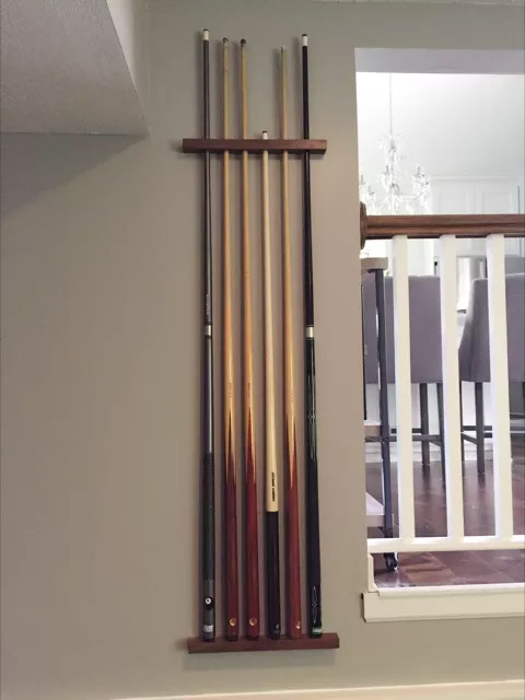 DIY Pool Cue Holder