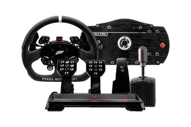 Volanti fanatec con pedaliera per PC