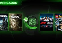 Xbox Game Pass, Março, Just Cause 4, LEGO Batman 2, F1 2018, Fallout 4