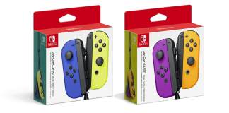 Nintendo, controles Joy-Con, Joy-Con Blue, Neon Yellow, Neon Purple, Neon Orange