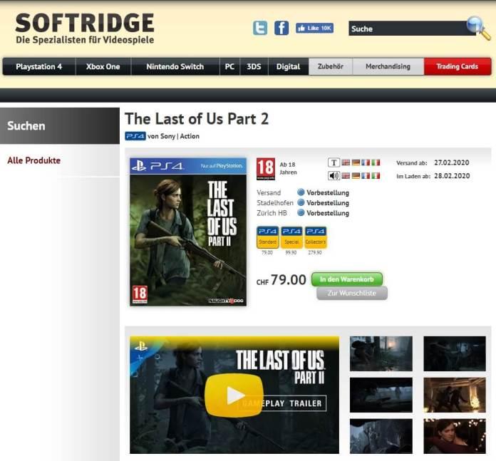 The Last of Us Part II softridge