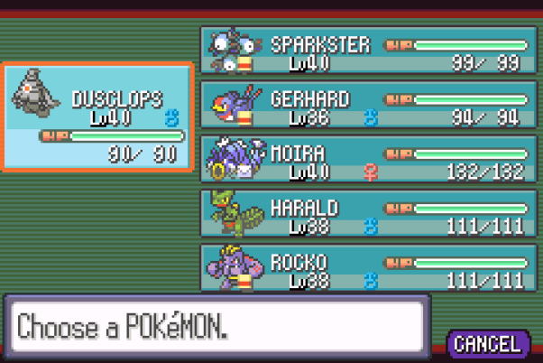 Pokemon Nuzlocke Challenge Team