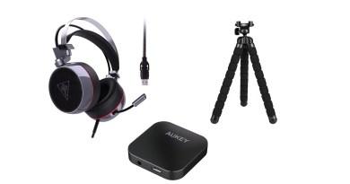 Aukey Audio Video Headset Bluetooth Stativ Titel