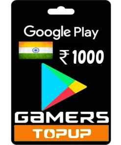 Google Play Gift Card 1000 Rupee