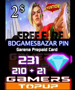 B gamesBazar Pin 2usd