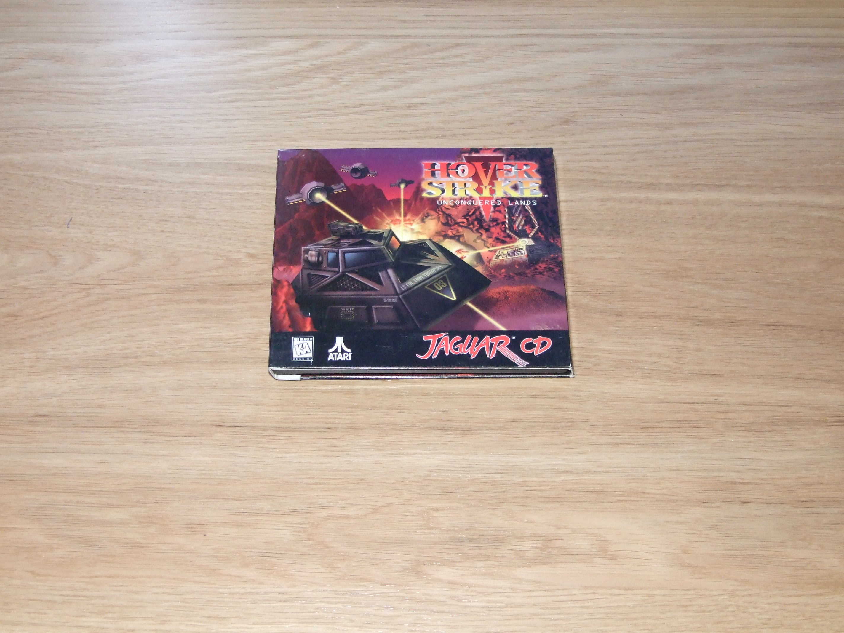 What's inside the box for Hover Strike: Unconquered Lands for the Atari Jaguar CD... Yep, it's just a sleeve!