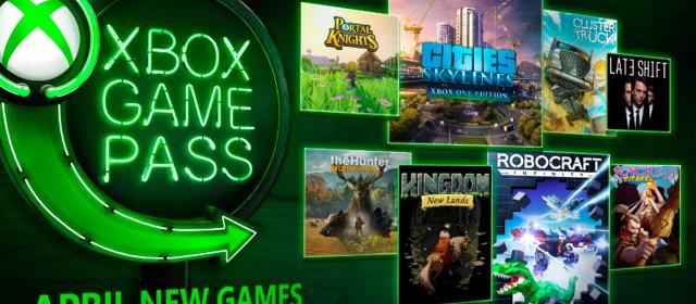 Nuevos juegos llegan a Xbox Game Pass en abril de 2018