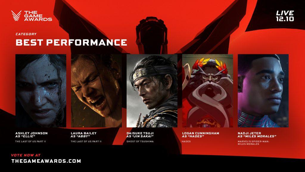 The Game Awards - Mejor actuación 2020