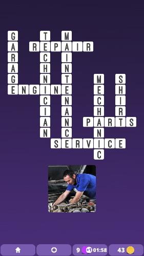 One Clue Crossword : examine pics to solve crosswords! Mechanic   Gamers Unite! IOS