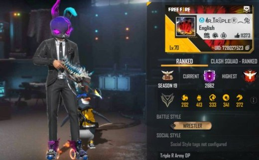 Mr.Triple R Free Fire ID, Lifetime stats, Real name, Country, & more