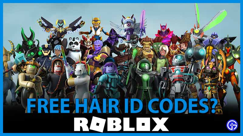 Ese are the list of roblox decal ids and spray codes that use to spray paint the. Roblox Hair Id Codes September 2021 Gamer Tweak