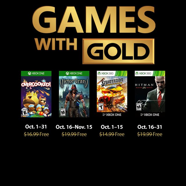 Games With Gold Październik 2018