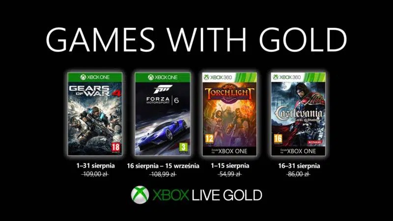 Games With Gold Sierpien 2019
