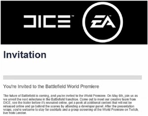 Battlefield invitation premiere