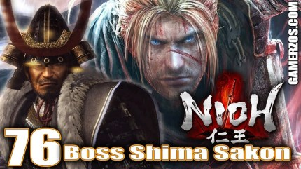 nioh gameplay español ps4 Boss Shima Sakon 76