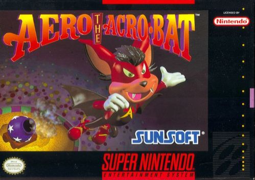 Aero the Acro-Bat Cover SNES