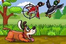 Shoot the Duck (Hunting Ducks with Dog)