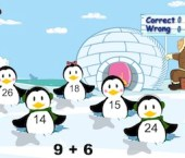 Penguin Party Addition Game