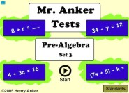 Pre Algebra Set 3 (Mr Anker Tests)