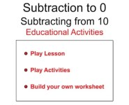 Subtracting from 10 (Subtraction to 0)