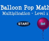 Balloon Pop Math – Multiplication – Level 2