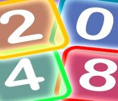 Neon 2048 Game (Mind Teaser Math)