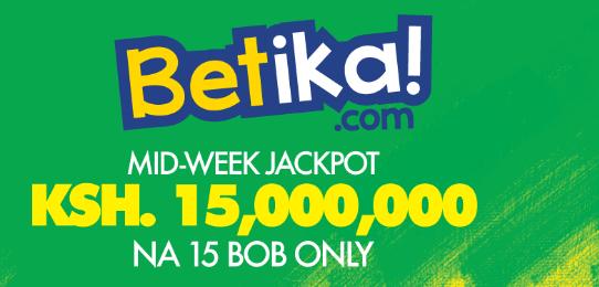 Betika Midweek Jackpot