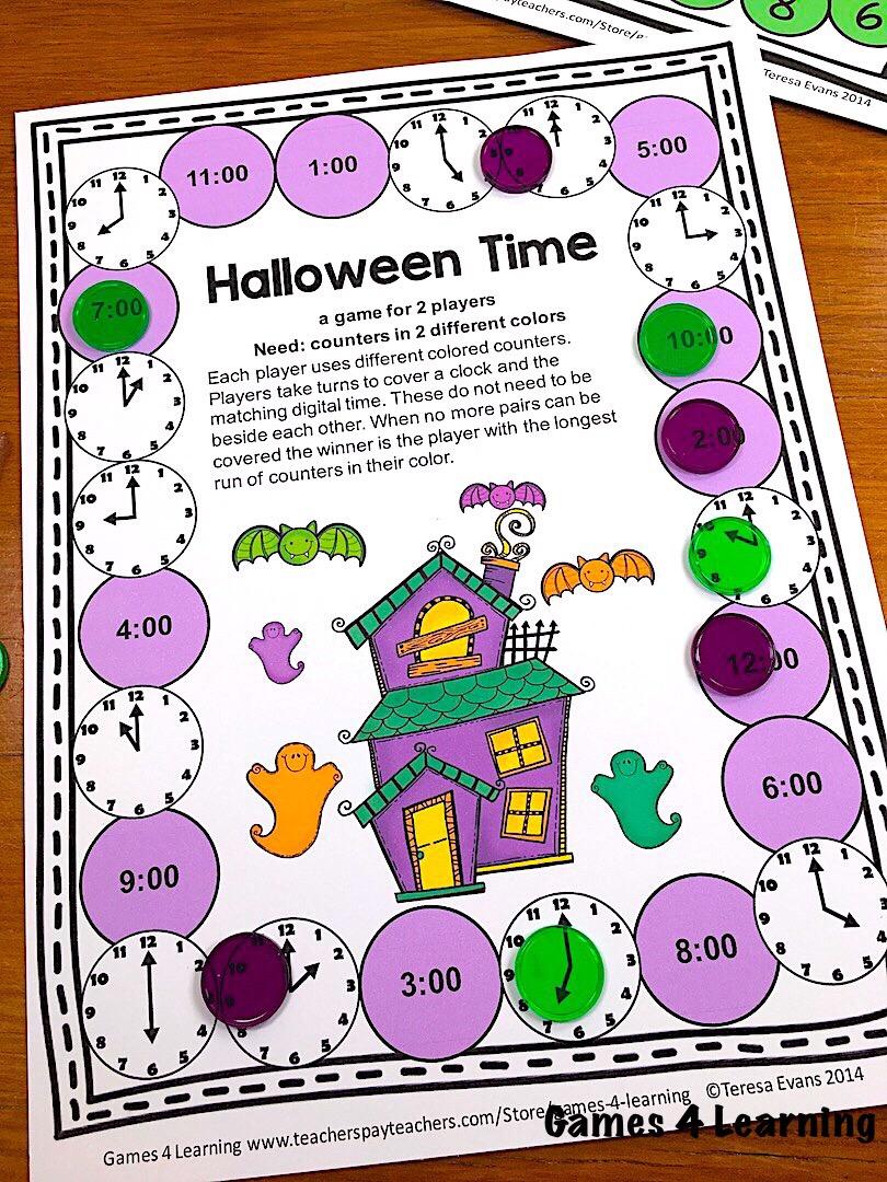 hight resolution of Halloween Math Games