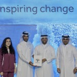 (L to R) Olympian Nada Mohammed Wafa Arakji, Olympian Nasser Al Attiyah, Doha 2020 Vice Chair H.E. Sheikh Saoud bin Abdulrahman Al-Thani and Deputy CEO Fahad Juma (Photo: Doha 2020)