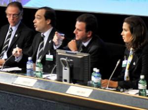 The delegation representing Rio de Janeiro 2016 © IOC/R. Juilliart