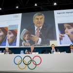 IOC President Thomas Bach at 127th IOC Session speaking on Agenda 2020 (IOC Photo)