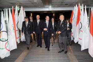 Monaco's Prince Albert arrives at 127th IOC Session December 7, 2015 (IOC Photo)
